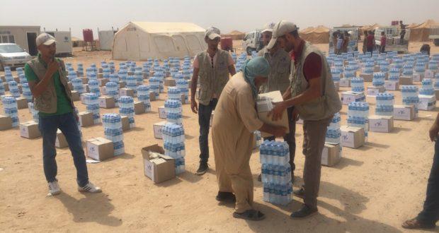 نشاط اغاثة النازحين في مخيم الكيلو ستين في الانبار